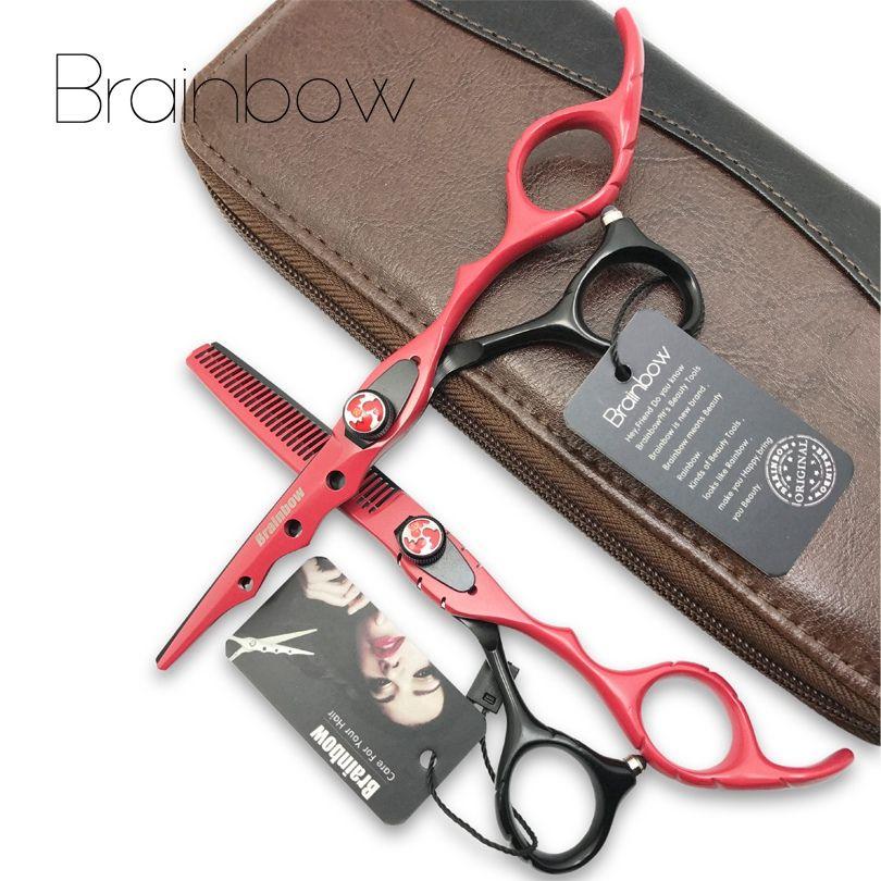 Brainbow 6,0 'Japan Friseurscheren Haar-ausschnitt Effilierscheren Set Barber Tijeras Pelo Hochwertigen Friseursalon