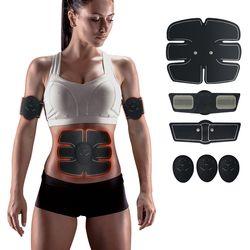 EMS тренажер стимулятор мышц Тренажер умный фитнес для мышц пресса тренировка ABS стимулятор пояс для похудения унисекс наклейки
