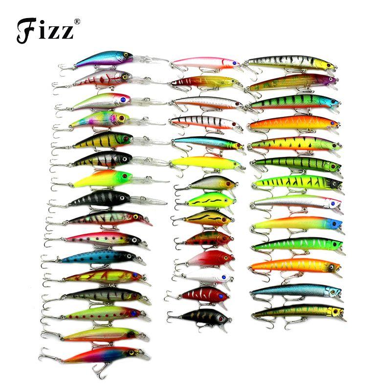 43 Teile/paket 6 Modell Minnow Fischköder 3D Fish Eye Minnow Harten Kunststoff Fischerei Wobbler Künstliche Köder Angelgerät Niedrigen preis