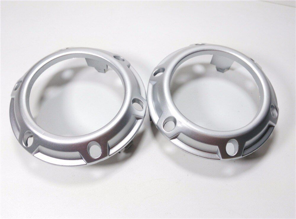 A Pair left and right silver color Front Fog Lamp Frame Fog Light Cover for Mitsubishi Outlander 2007 2008 2009