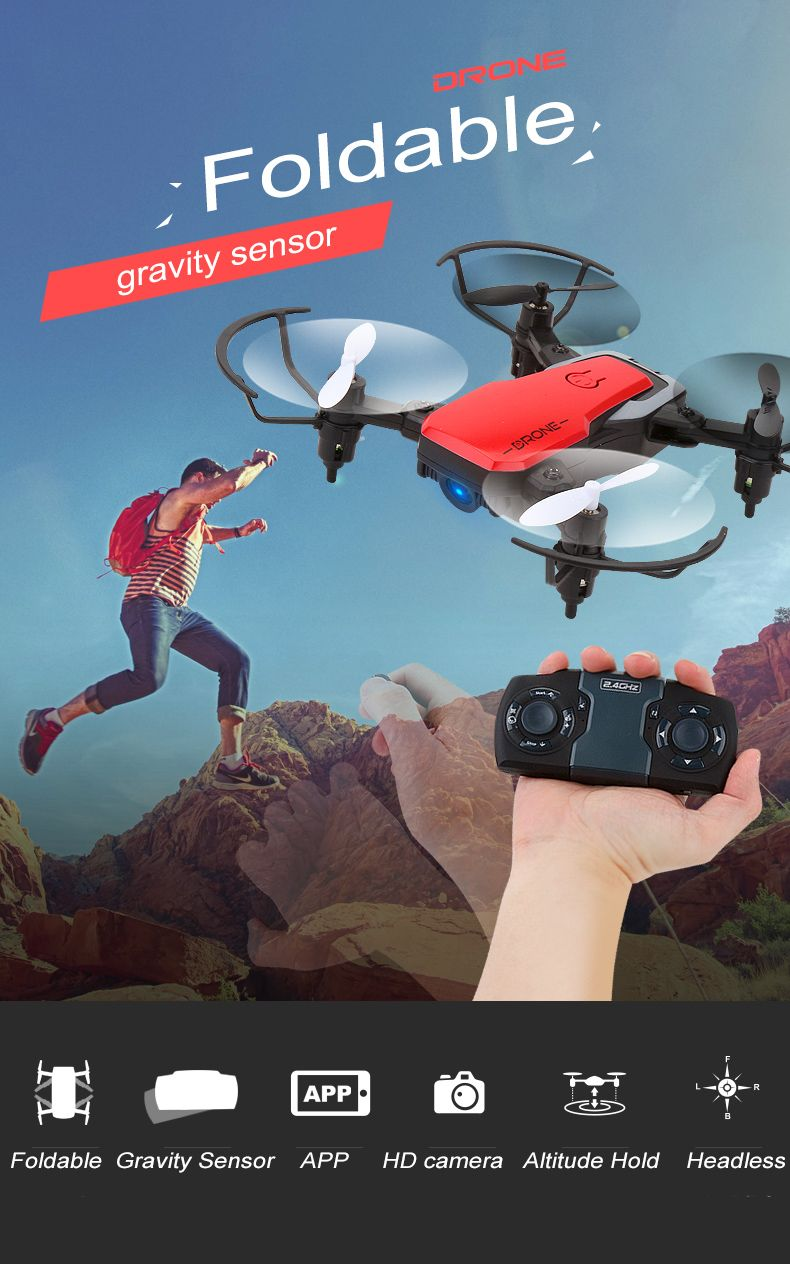 Lively RC Pocket Dron With 2mp HD Wide Angle Camera/No Cam Foldable Drone With Gravity Sensor VS H31 S9 S9W Drone
