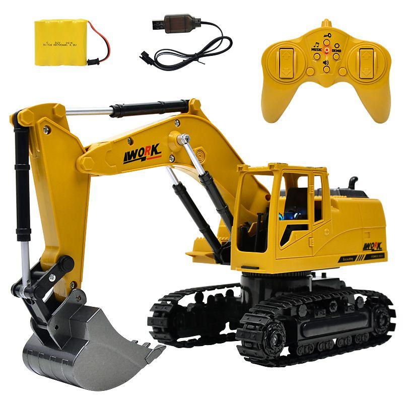 8CH Simulation RC pelle jouets avec Musique et lumière Enfants de Garçons RC camion jouets cadeaux RC Génie voiture tracteur brinquedos