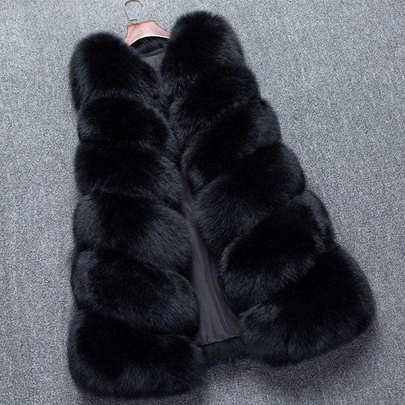 2018 Winter Women Real Fox Fur Vest Lady Natural Fox Fur Coat Sleeveless Warm Fashion Fur Gilet Female Slim Real Fur Fox Vests