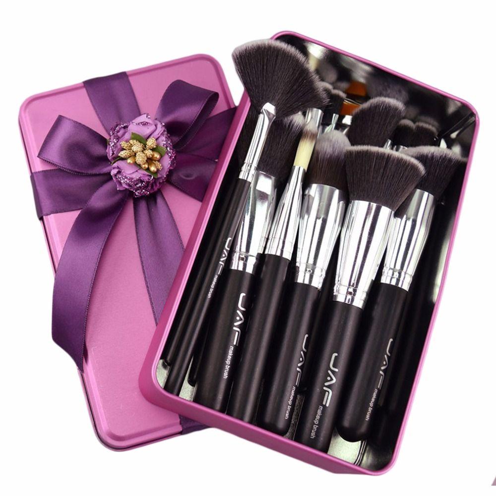 JAF Марка профессиональный макияж кисти набор комплект для губ пудра Румяна Тени для век ресницы Щетка Concealer Макияж Tool