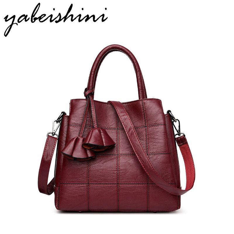 KMFFLY Brand 2017 New Genuine Leather Bags Women High Quality Sheepskin Women Handbags Designer Shoulder Bags Ladies Sac Femme