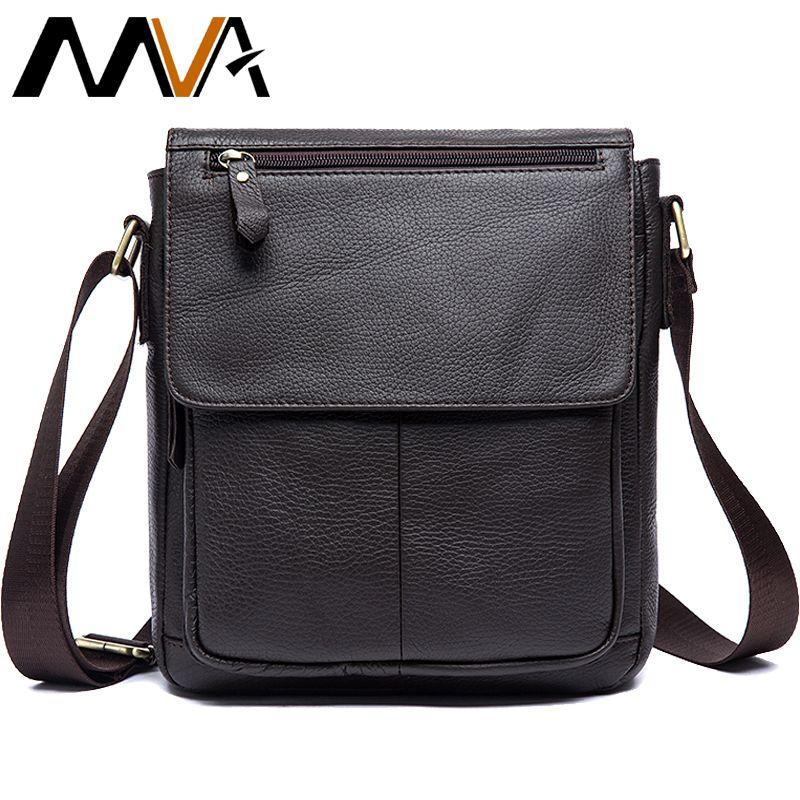 MVA <font><b>Messenger</b></font> Bag Men's Genuine Leather Men Bag <font><b>Messenger</b></font> Shoulder Bags Small man Crossbody Bags for men leather handbags 819