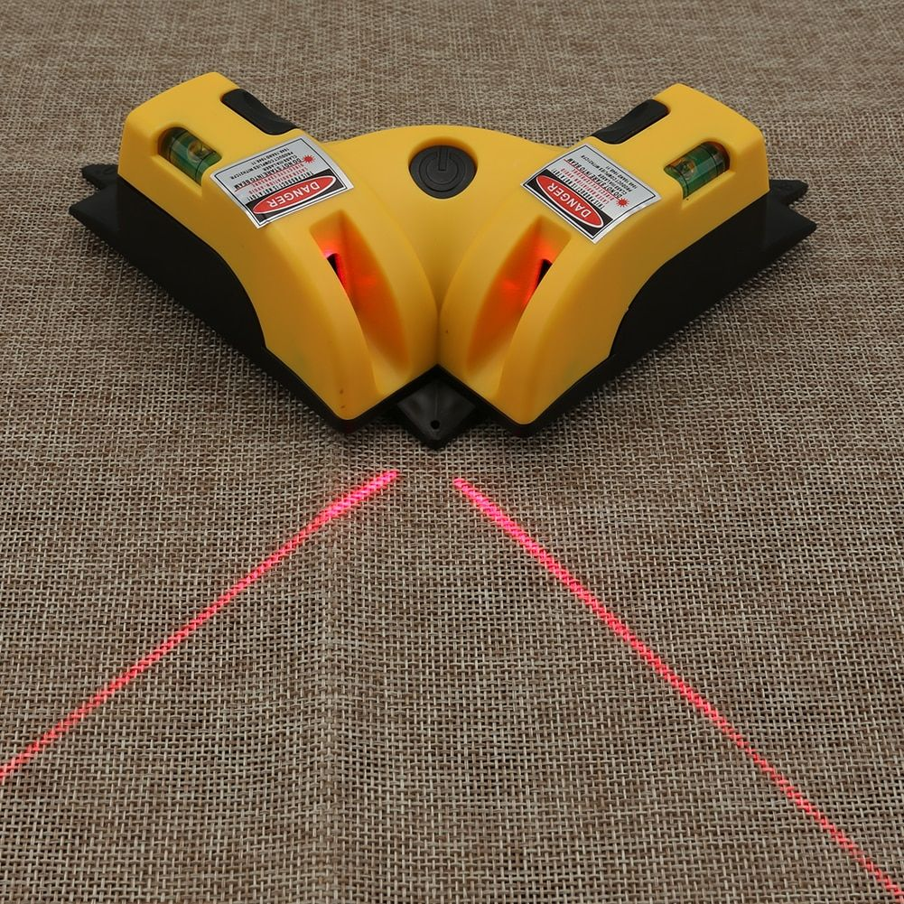 Right Angle Two Lengthened 90 Degree Vertical Horizontal Laser Line Projection Square Level Laser Level laser Measurement Tool