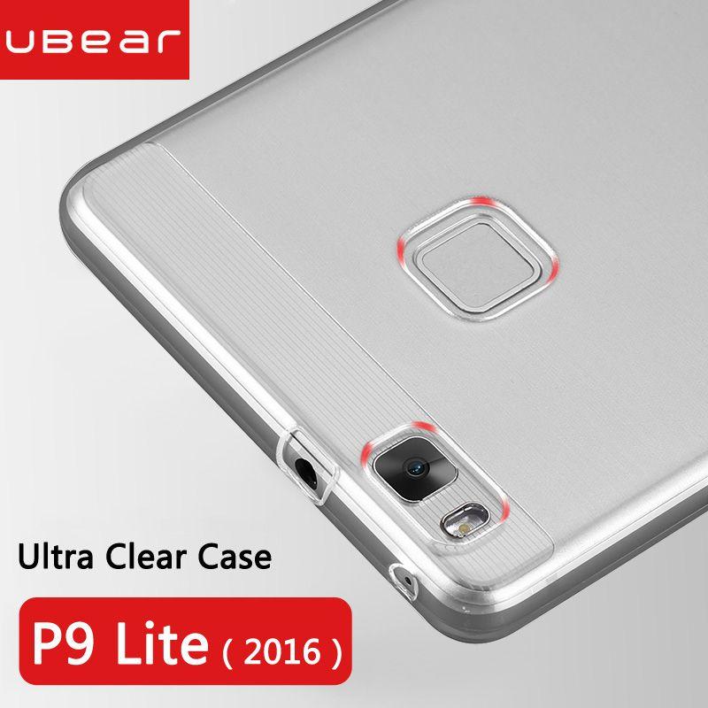 Huawei p9 lite cas huawei p9 lite housse en silicone ultra mince souple retour clair funda transparent huawei p9 lite coque