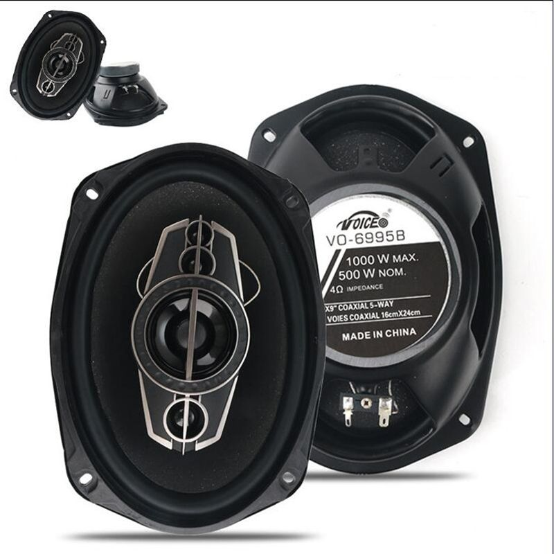 2pcs 4ohm 6*9 Automobile Speaker Automotive Audio Car Coaxial Speaker with Bass & Tweeter Music Auto Loudspeaker
