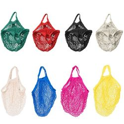New Mesh Net Turtle Bag String Shopping Bag Reusable Fruit Storage Handbag Totes Women Shopping Mesh Bag Shopper Bag
