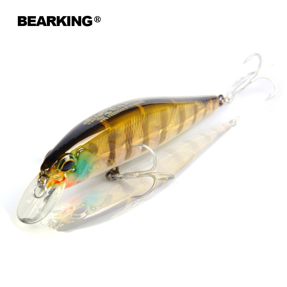 Bearking Retail fishing tackle   A+ fishing lures hard bait 5color for choose 100mm 14.5g  minnow,quality professional minnow