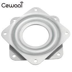 Cewaal 7.1x 7.1x0.9cm Stainless Material Bearing 360 degree Rotating Swivel Turntable Plate TV Rack Holder Desk TV Mounts 3