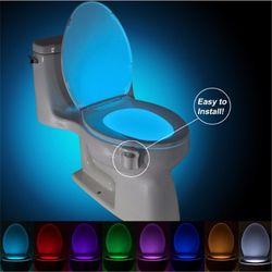 LED Siège De Toilette Led Lumières Led Lampe Détails sur Salle De Bains nuit Lumière Human Motion Activé Siège Capteur Lampe 8 Couleurs Toilett