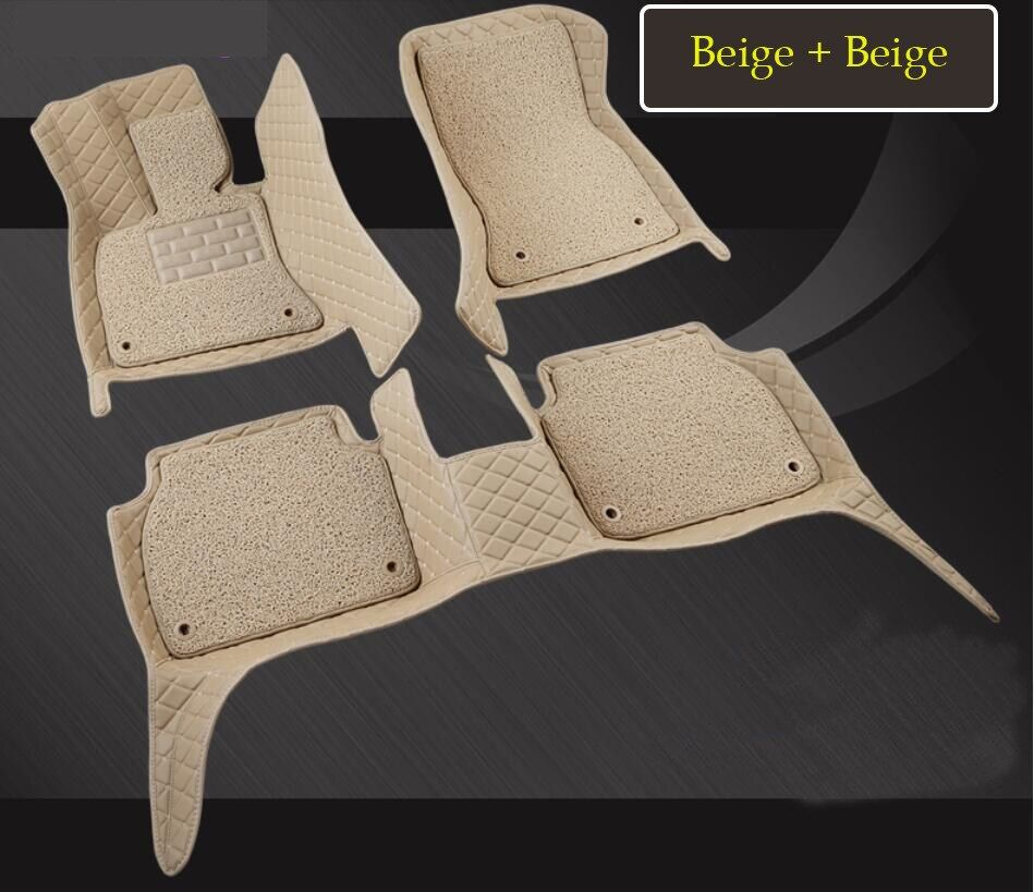 Auto Floor Mats For BMW 5 Series G30 G38 528 530 540 2018 Foot Step Mat High Quality Embroidery Leather Wire coil 2 Layer