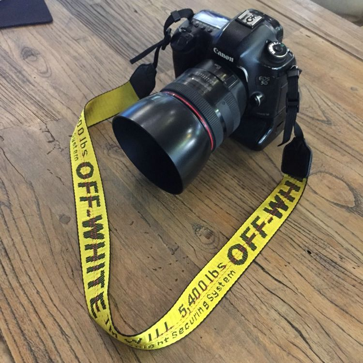Off White Neoprene Neck Strap Camera Strap for Canon Nikon Pentax Sony Fuji Olympus Camera Pink/Yellow/Silvery/Black/RED