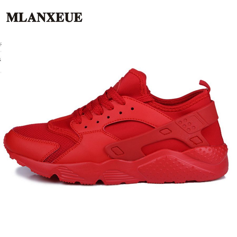 Autumn Fashion Casual Mesh Shoes Men Flat Shoes Winter Lace Up Breathable Male Footwear Black Color Sneakers Sapatos Masculino