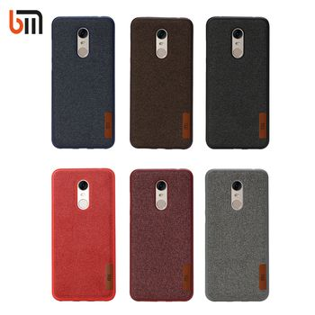 Silicone Case Bumper Fabric For Xiaomi Redmi 5 5 plus TPU Soft Silicon Inside Cotton Cloth Outside For Xiaomi Redmi5 Redmi 5plus