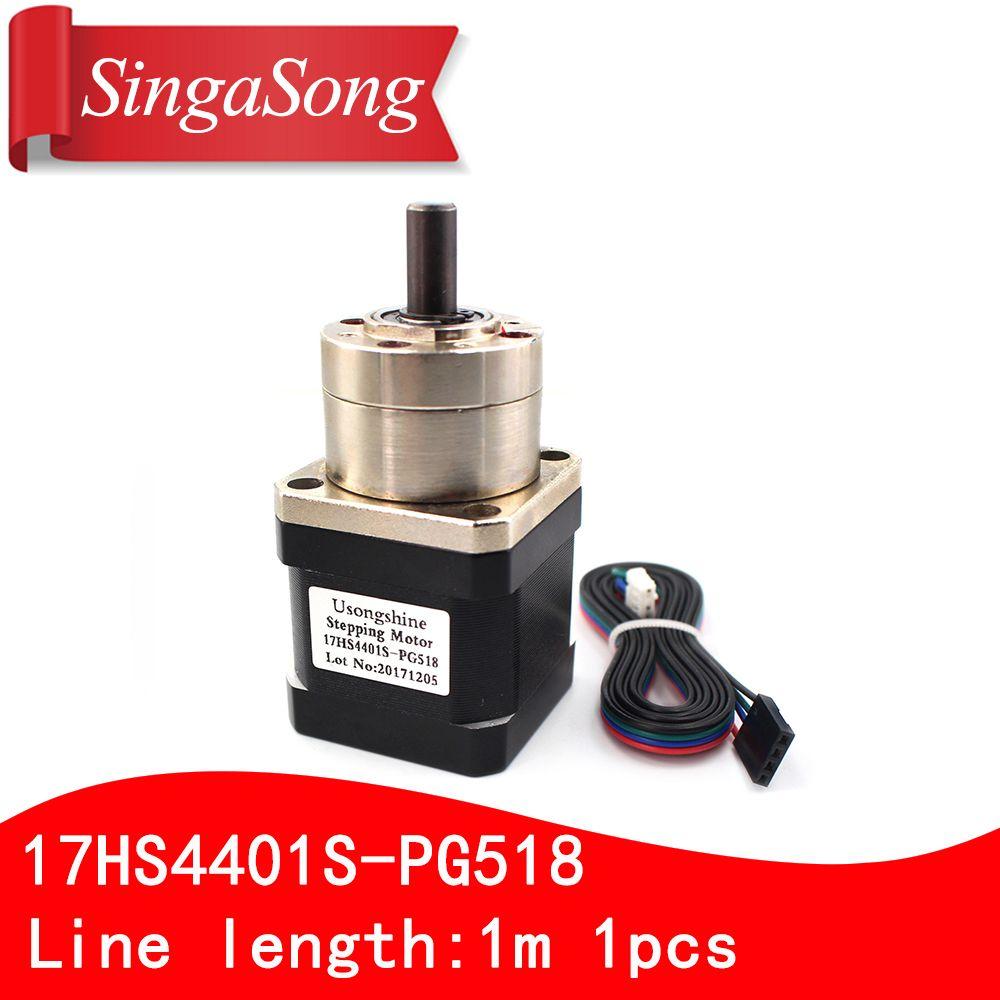 Usongshine 4-lead Nema17 Stepper Motor 42 motor Extruder Gear Stepper Motor Ratio 5.18:1 Planetary Gearbox Nema 17 17HS4401