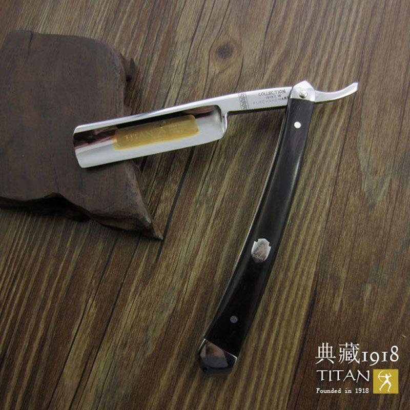 Livraison gratuite sharping rasoir TITAN manche en bois homme de rasoir en acier inoxydable balde