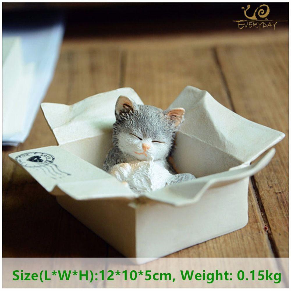 Каждый день коллекция Пасхальный Kawaii Cat аксессуары для украшения дома фигурки животных Манеки Неко скульптура миниатюрный Сказочный Сад