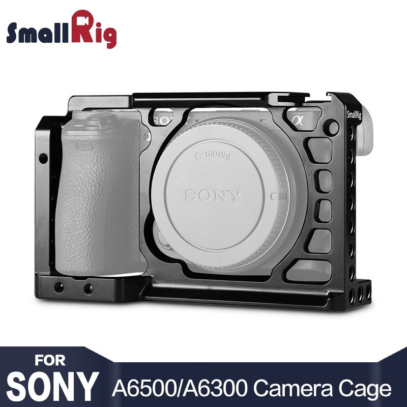 SmallRig Dslr Camera Rig Cage for Sony A6500 /A6300 Camera Aluminum Alloy Cage W/ Arca Swiss QR plate ( <font><b>upgrade</b></font> version ) - 1889