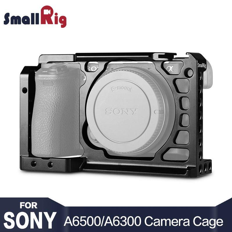 SmallRig Dslr Rig Cage pour Sony A6500/A6300 Caméra En Alliage D'aluminium Cage W/Arca Suisse QR plaque (mise à niveau version) -1889