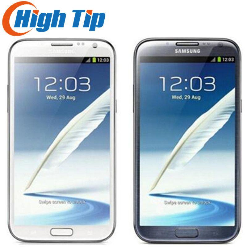 D'origine samsung galaxy Note Ii 2 N7100 L'UE VERSION rénové N7105 8.0MP CAMÉRA gps ANDROID 4.1 téléphone wifi LIVRAISON Gratuite