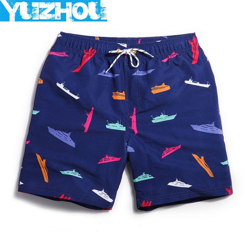 Board shorts men navy Blue summer swimwear mens joggers bodybuilding short plavky man brand <font><b>surf</b></font> bathing suit men's swimming gym