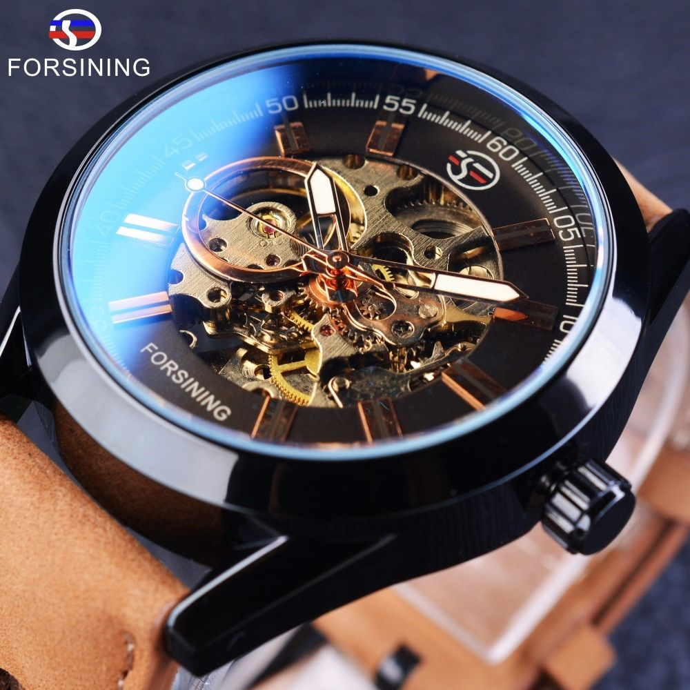 Forsining 2017 Casual Sport Series Waterproof Automatic Men <font><b>Wrist</b></font> Watch Top Brand Luxury Mechanical Military Skeleton Watches