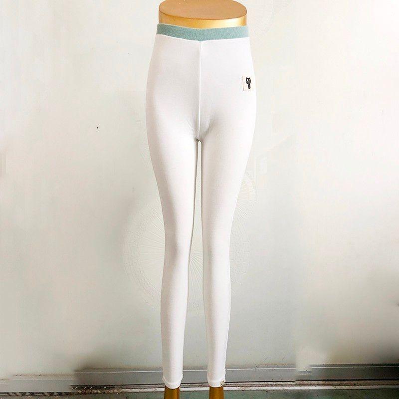 [Aosheng] M-3XL Nouvelle Hiver 2018 Mode Sexy Élastique Taille de Bande Dessinée Patchwork Plus de Velours Chaud Épais Tricoté Legging Femmes y029