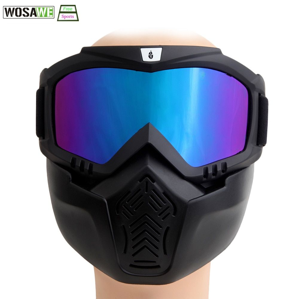WOLFBIKE Men Women Windproof Snowboard Goggles Ski Glasses Motocross Glass with Face Mask Protection Gear UV protection