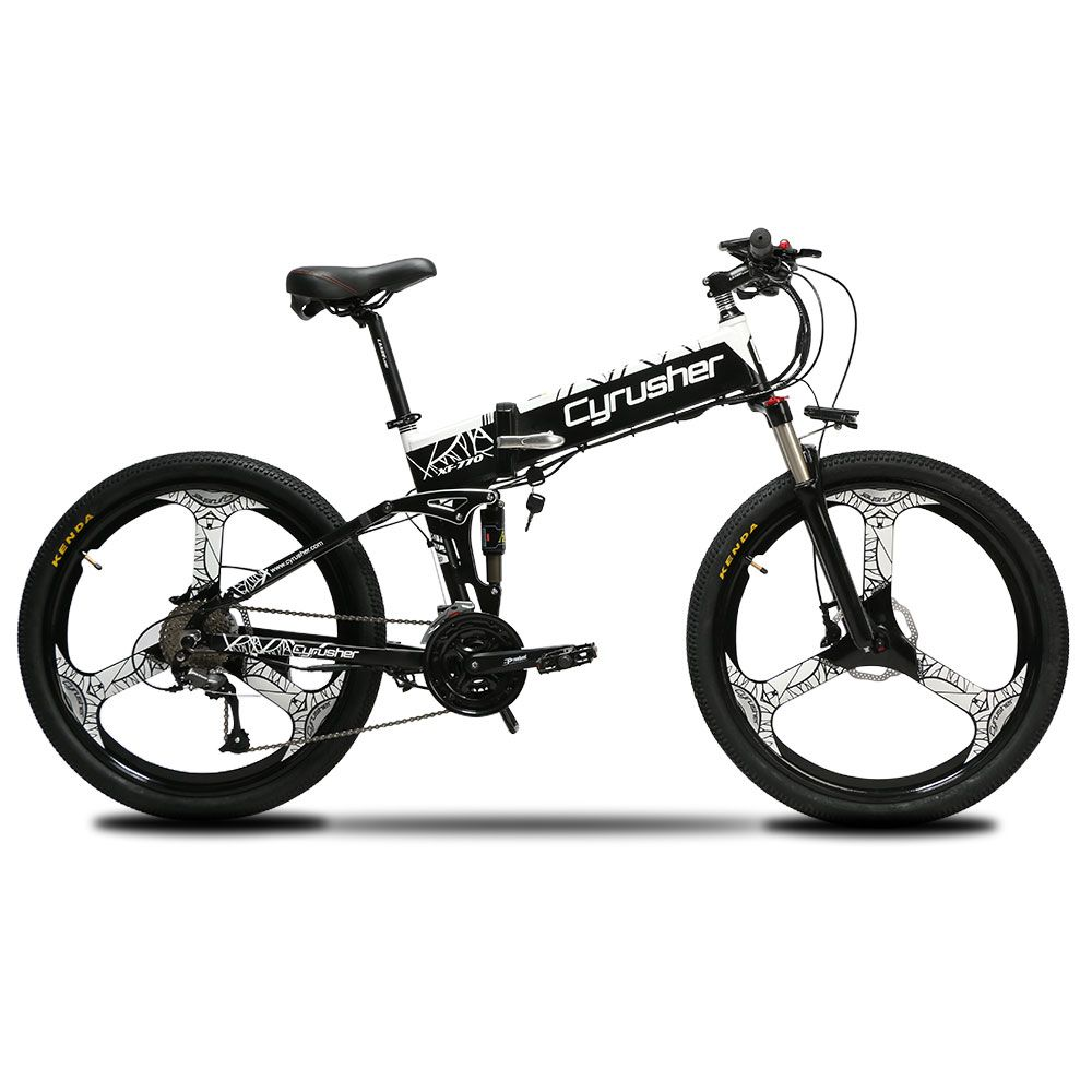 Cyrusher XF770 Unisex Folding Electric Bike Full Suspension foldable electric bicycle 250 Watt 48V Outdoor speed Bicycle