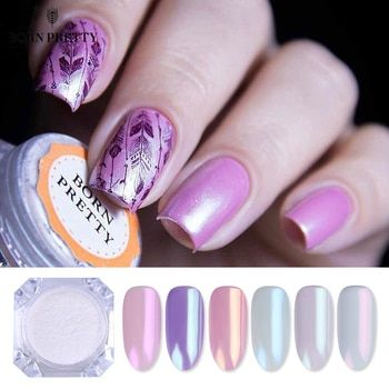 Pearl Shell Nail Glitter Powder Shimmer Powder Pigment Gradient Glimmer Dust Nail Art Decorations