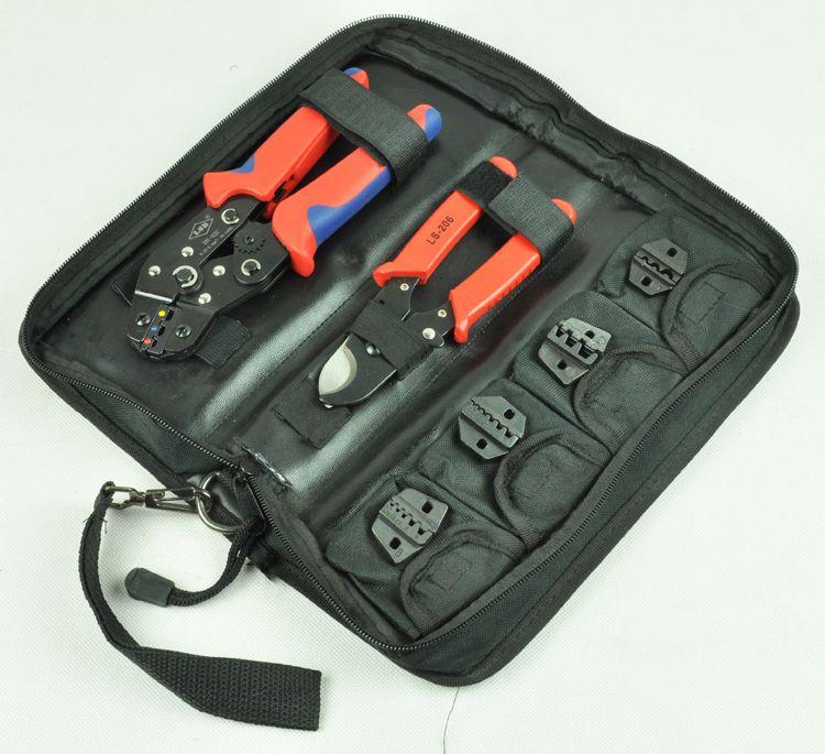 Outil de sertissage/kit DN-K02C avec coupe-câble, pince à sertir et remplaçables ensembles de matrice de sertissage/mâchoires terminal outils à main, pinces à sertir
