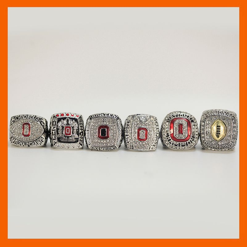 2002 2008 2009 2014 2014 2015 OHIO STATE BUCKEYES FOOTBALL BIG TEN CHAMPIONSHIP RING US SIZE 11, 6 RINGS AS A SET