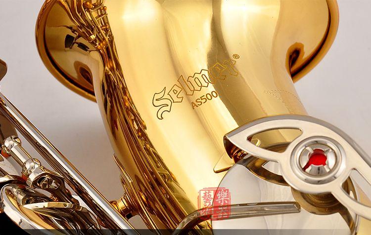 USA conn selme AS500 alto saxophone Eb electrophoresis gold sax Saxofone professional Woodwind instruments with case mouthpiece