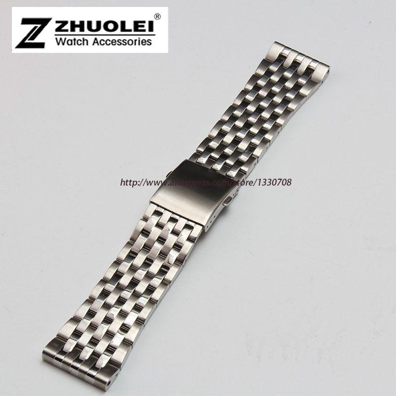 24 мм 26 мм 28 мм 30 мм доступны серебро Нержавеющаясталь Мужские металлический браслет часы ремешок для dz7221