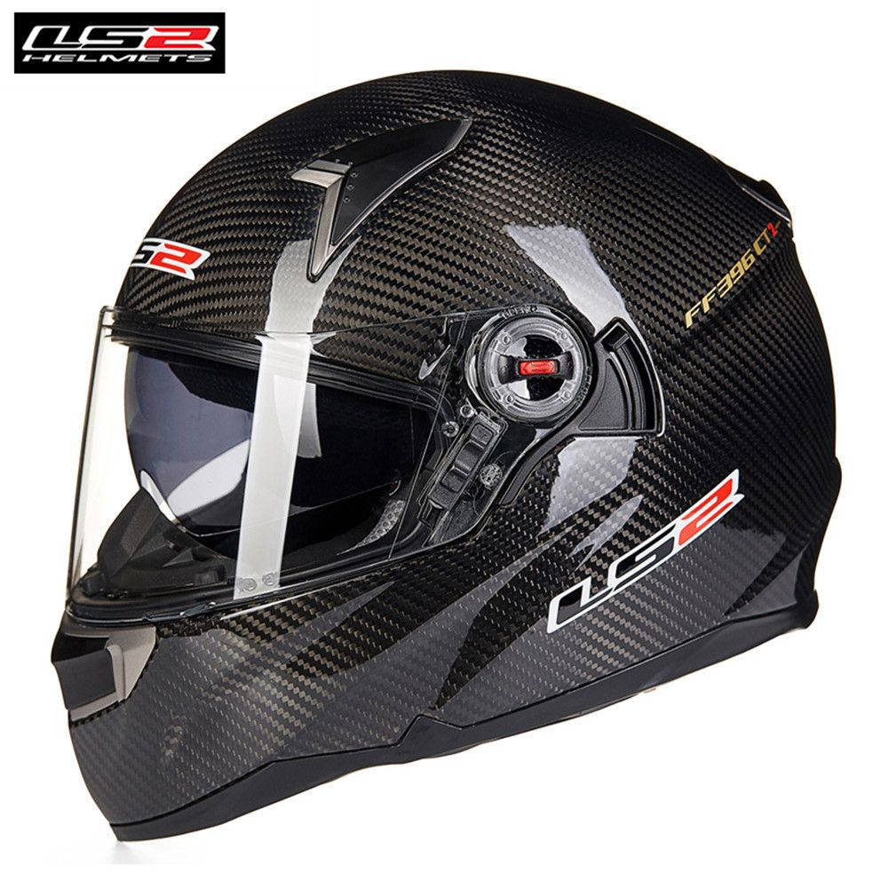 LS2 Carbon Fiber Motorcycle Helmet FF396 CR1 Full Face Professional Racing Cruiser Motorbike Helm Kask Moto Casco Capcetes