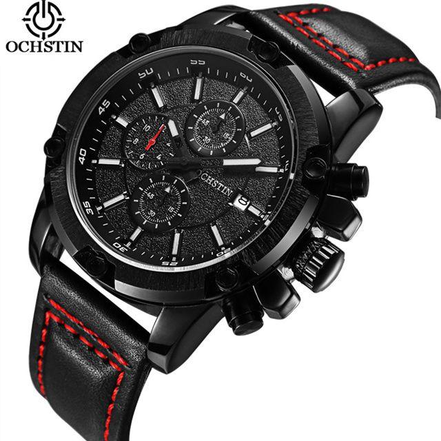 2018 Fashion Leather Strap Watches Men Casual Business Wristwatches Sports Military Quartz Watch Relogio Masculino Zegarek Meski
