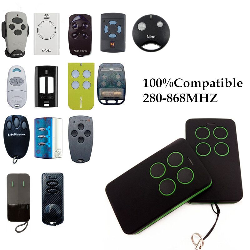 Duplicate 280mhz to 868mhz Remote Control Universal Remote Control 4 Channel Command Handzender Garage Gate Key Fob