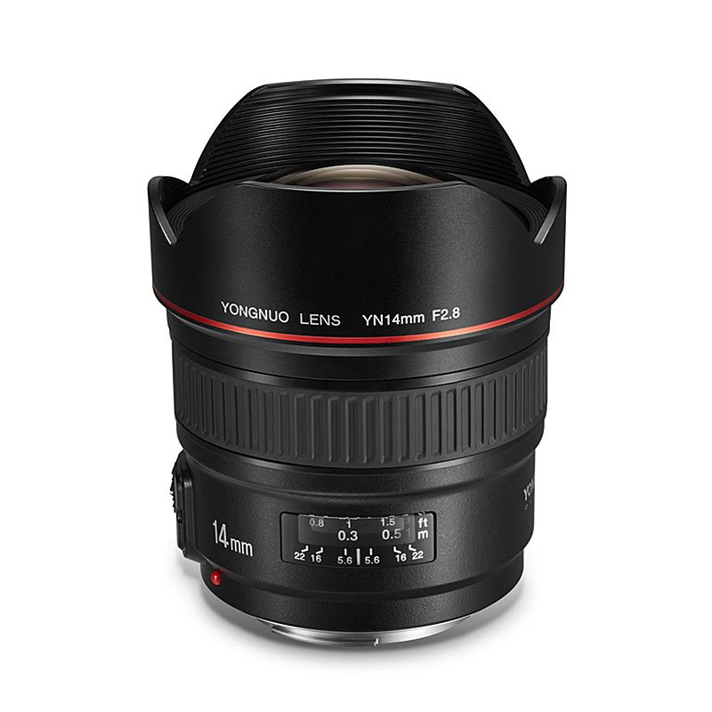 YONGNUO Ultra-wide Angle Prime Lens YN14mm F2.8 for Canon 5D Mark III IV 6D 700D 80D 70D Camera