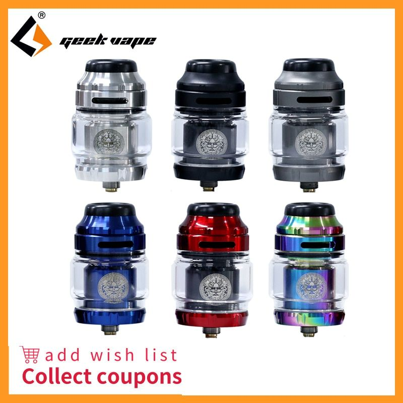 Vape tank Geekvape Zeus X RTA 4.5ml tank capacity with 810 Delrin drip tip Electronic cigarette atomizer vs zeus dual/AMMIT MTL