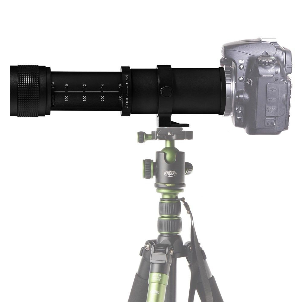 JINTU Super 420-800mm f8.3-f16 Zoom téléobjectif à mise au point manuelle pour Micro 4/3 M43 GH4 E-PL7 GH5 caméra + livraison gratuite + garantie 2y