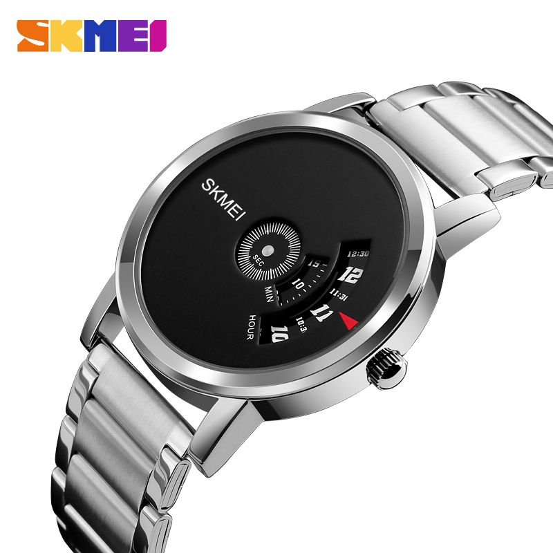 SKMEI Men Quartz Creative Watch Unisex Watches Waterproof Top Luxury Stainless Steel Strap Clock Male Female Wristwatches 1260