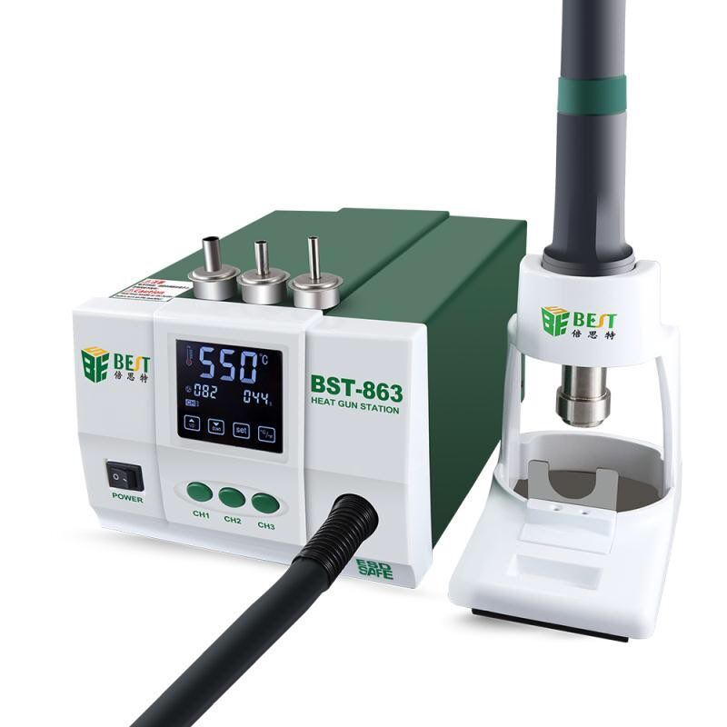 Lead-free Adjustable Hot Air Rework Station Soldering Touch Screen LCD 1200W 220V For Phone CPU PCB better than QUICK 861DW