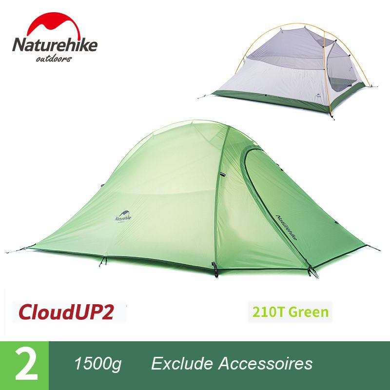 Naturehike Outdoor Camping Tent Beach Shade Ultralight Hiking Backpack Tent 2 Person 4 season Tent With Mat barraca cloud up 2