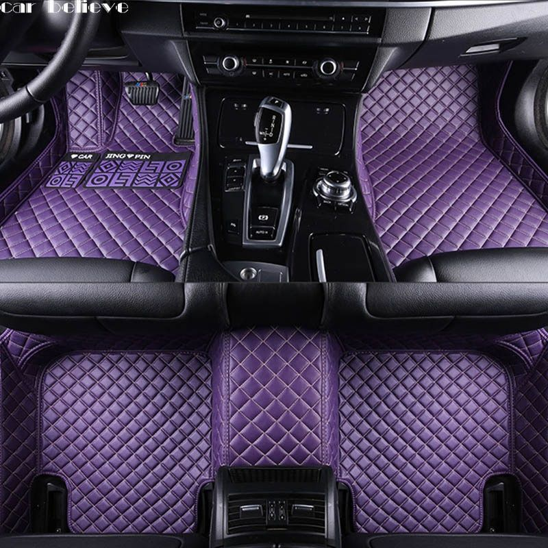 Car Believe Auto car floor Foot mat For mercedes w211 cla w212 e-klasse gla w176 glk w211 w245 gle a180 car accessories styling