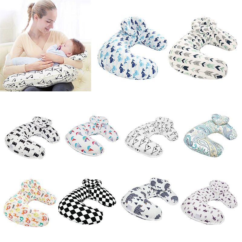 Nouveau-né bébé soins infirmiers oreillers maternité bébé en forme de U allaitement oreiller infantile câlin coton alimentation taille coussin bébé soins