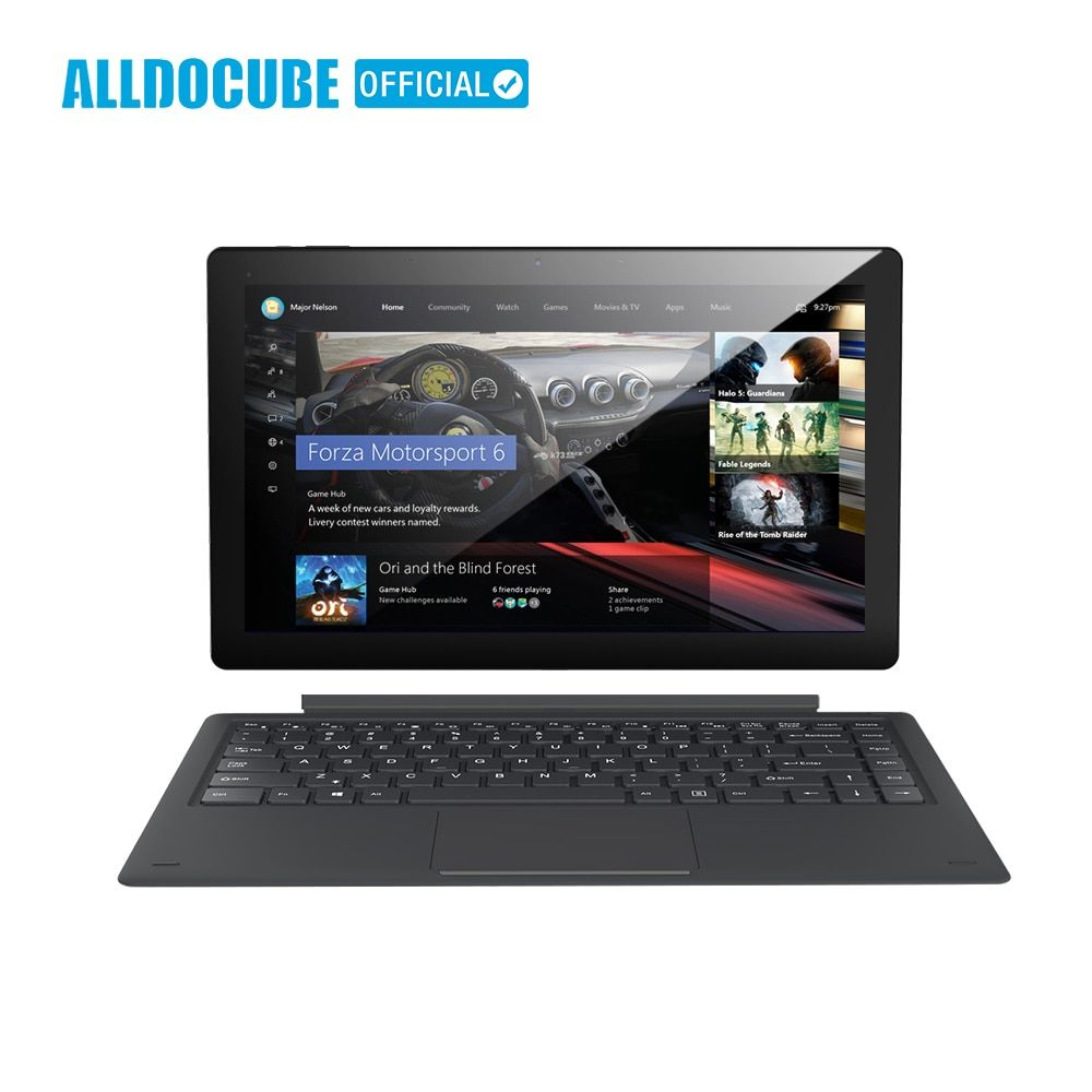ALLDOCUBE Knote8 13.3 Inch 2 IN 1 Tablet PC Full View 2560x1440 IPS Windows10 intel Kabylake 7Y30 8GB RAM 256GB ROM Micro HDMI