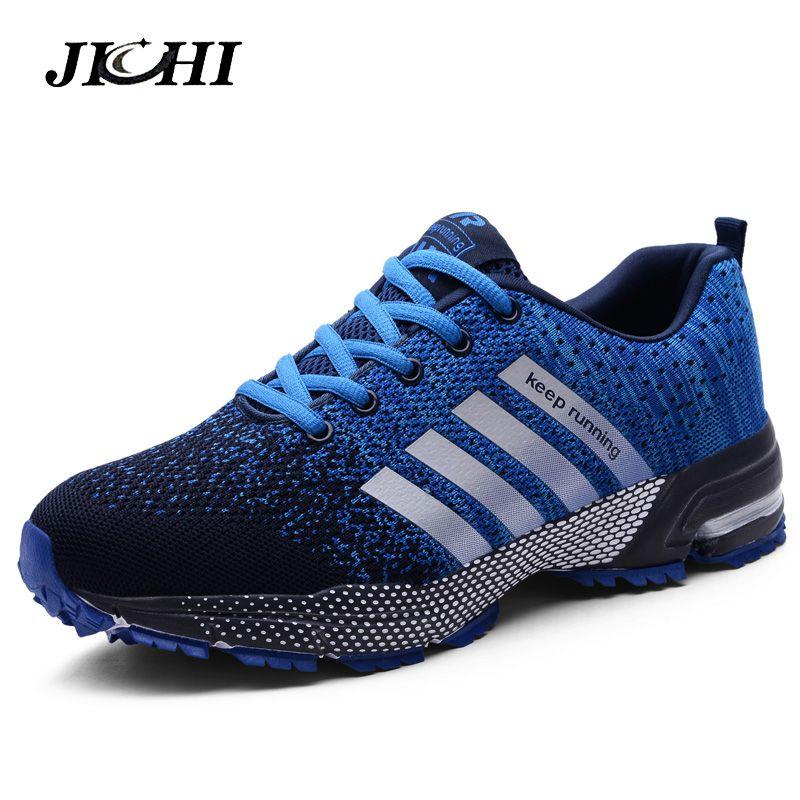 2019 Sport course chaussures hommes paire de chaussures de loisirs chaussures plates pour homme en plein air baskets maille respirant marche chaussures Sport formateurs